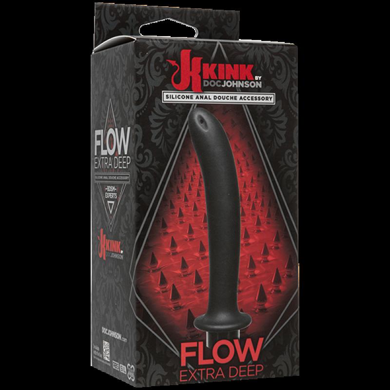 Дълбок силиконов анален душ Kink - Flow - Анални дилда (butt plug)   Цена: 53.00 лв.