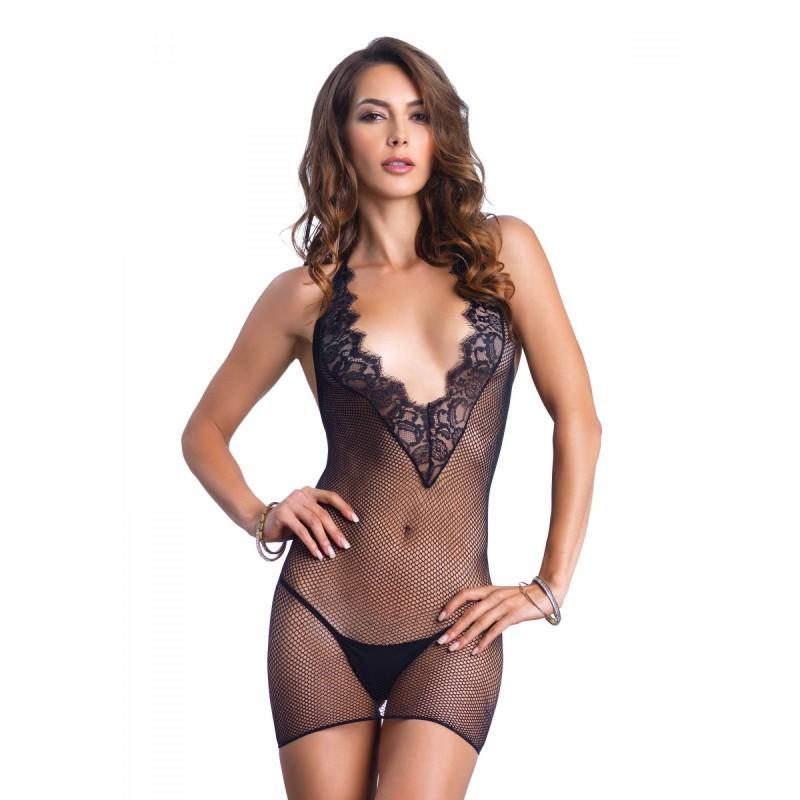 Секси мрежеста рокля с V образно диколте - Leg Avenue | Цена: 25.00 лв.