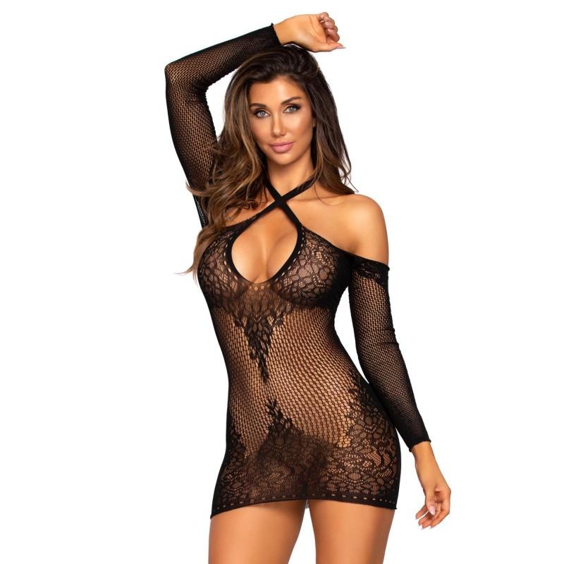 Мини секси рокличка с отворено деколте - Leg Avenue   Цена: 55.00 лв.