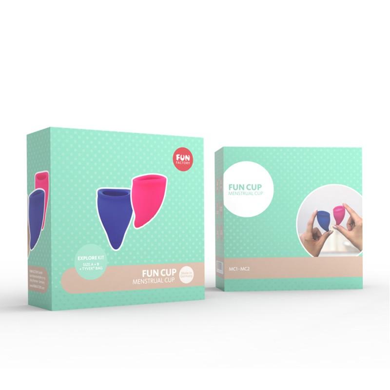 Менструална чашка Fun Cup A+B, 2 броя - Секс тампони и менструални чашки   Цена: 85.00 лв.