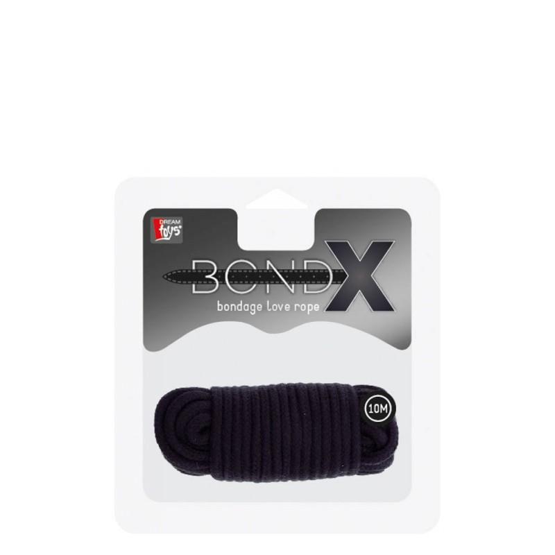 Любовно въже BONDX- 10m, черно - Белезници, комплекти за връзване   Цена: 31.00 лв.