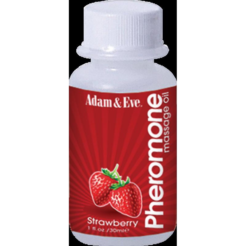 Масажно олио с феромони и неповторим аромат на ягода - Секс козметика за мъже | Цена: 10.00 лв.