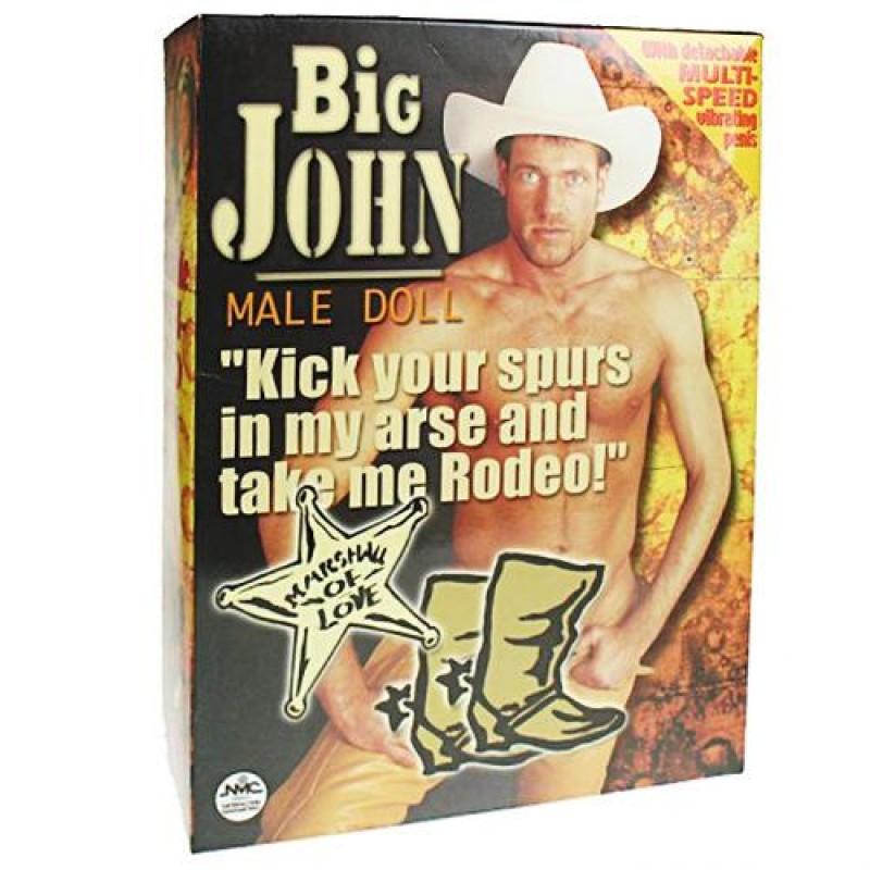 Мъжка кукла с вибро пенис BIG JOHN - Секс кукли | Цена: 99.00 лв.