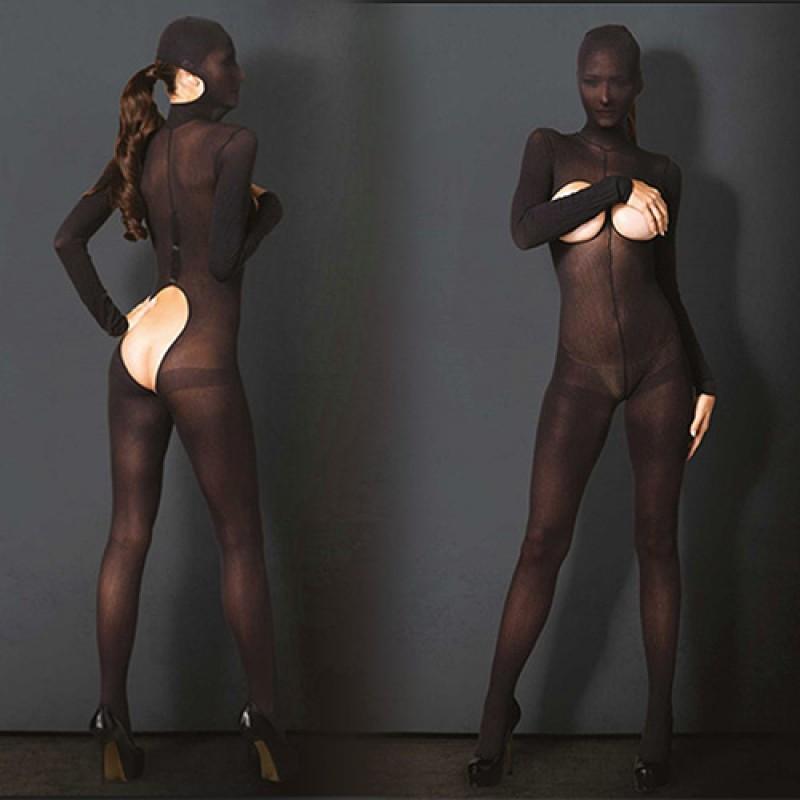 Hooded Opaque Bodystocking - Leg Avenue | Цена: 54.52 лв.